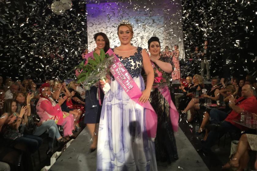 Die Siegerinnen bei der Wahl zur Fräulein Kurvig 2015