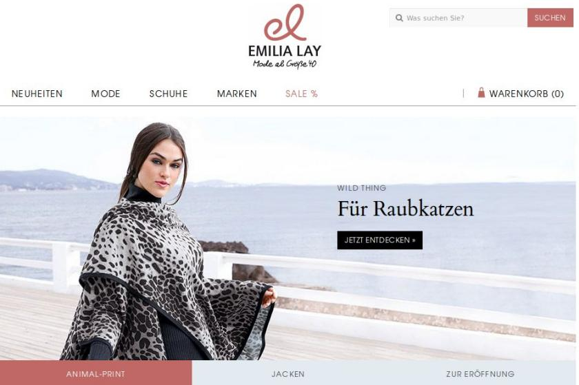Screenshot von der Website emilialay.de