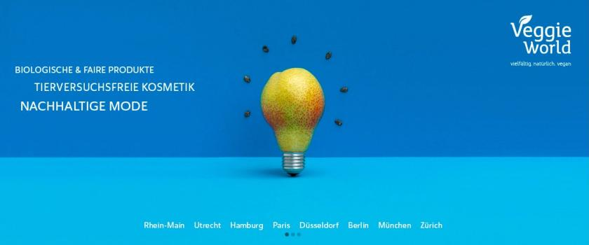 Screenshot von der Website VeggieWorld